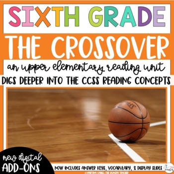 Sixth Grade Reading Unit - The Crossover by Kwame Alexander