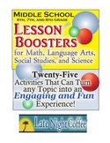 Sixth, Seventh, and Eighth Grade Lesson Boosters for any Topic
