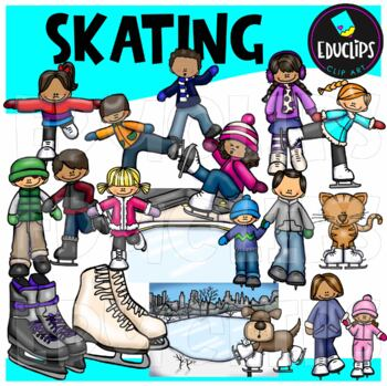 Skating Clip Art Bundle {Educlips Clipart}