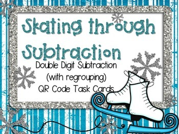 Skating Subtraction: Double Digit Subtraction (with regrouping)
