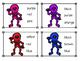 Skeleton Color Sight Word Clip Cards