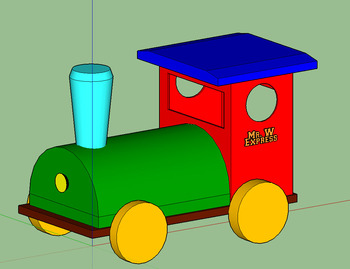 SketchUp - Modeling A Toy Train - A STEM Video Tutorial