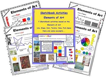 Sketchbook Activity- Elements of Art