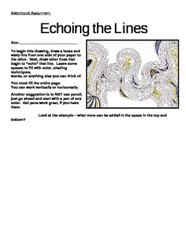 Sketchbook Assignment: Echoing the Lines