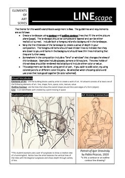 Sketchbook Assignment:  Linescape