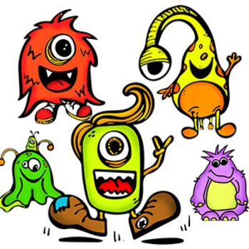 Sketched Monster Clipart Freebies {Watson Works Clip Art/G