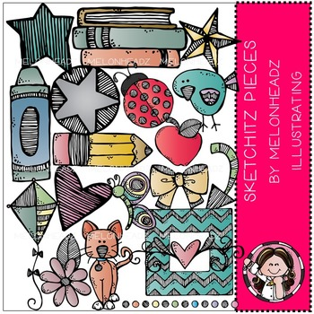 Sketchitz pieces by Melonheadz COMBO PACK