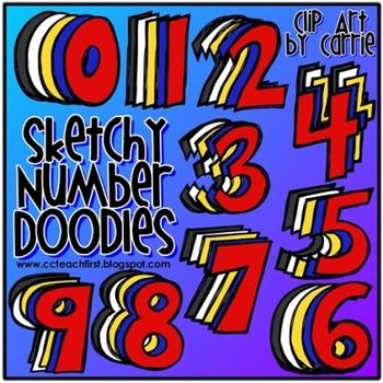 Sketchy Number Doodles