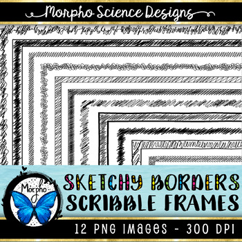 Sketchy Page Borders (Commercial Use Frames) - Fun Workshe
