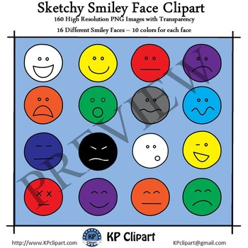 Sketchy Smiley Face Clipart