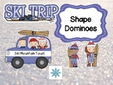 Ski Trip Shape Dominoes Math Center
