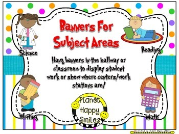 Skill Banners (Reading, Writing, Math, Science) ~ Bright P