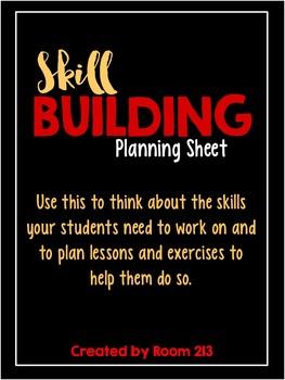 Skill Building Planning Sheet