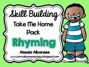 Skill Building Take Me Home Pack - Rhyming