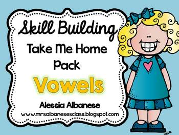 Skill Building Take Me Home Pack - Vowels