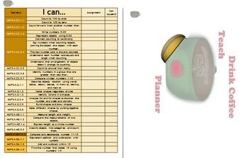 Kindergarten Homeschool Planner with Skills Checklist