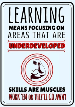 """Inspirational Poster """"Skills are Muscles"""""""