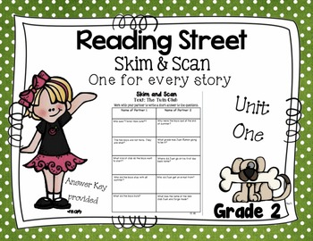 Skim and Scan Reading Street - Grade 2 Unit One 2011 Version
