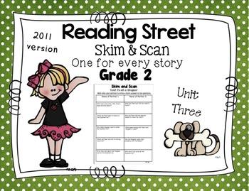 Skim and Scan Reading Street - Grade 2 Unit Three 2011 Version