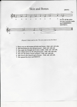 Skin and Bones for Recorder