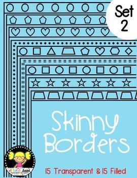 Skinny Frames {Set 2}