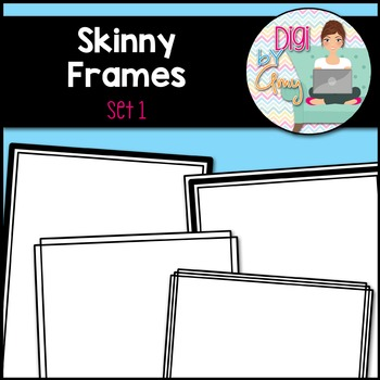 Skinny Frames and Borders clipart - Set 1