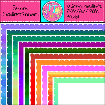 Skinny Gradient Frames Clip Art CU OK