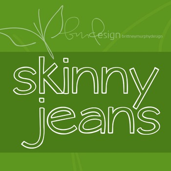 Skinny Jeans Font for Commercial Use