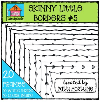 Skinny Little Borders #5 Leaves {P4 Clips Trioriginals Dig