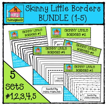 Skinny Little Borders BUNDLE #1-5 {P4 Clips Trioriginals}