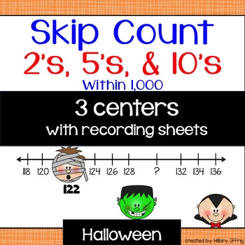 Skip Count 5's & 10's:  Halloween Theme