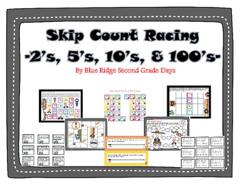 Skip Count Racing - 2's, 5's, 10's, and 100's Skip Countin