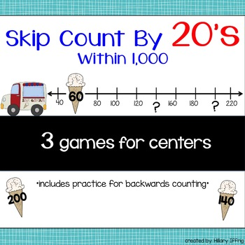 Skip Count by 20s Within 1,000