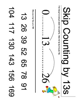 Skip Counting 13, 14, 15, squares and cubes