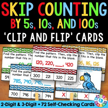 2nd Grade Skip Counting: Skip Counting By 5s, 10s, and 100