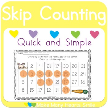 Skip Counting Dot a Path: Pets