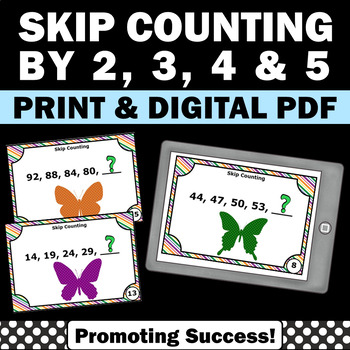 Skip Counting Task Cards 1st 2nd Grade Math Center Review
