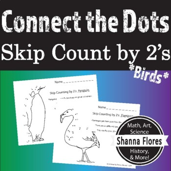 Skip Counting Dot to Dot, by 2's, 3's, and 4's, Animal Con