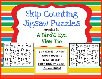 Skip Counting Activities: Jigsaw Puzzles