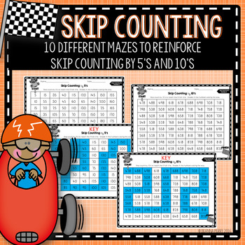 Skip Counting Mazes- Skip Counting by 5s and 10s