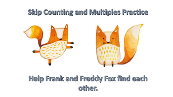 Skip Counting/Multiples Foxes