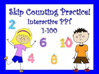 Skip Counting/Multiplication Strategy/Hundred Chart Intera