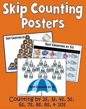 Skip Counting Posters 2s10s - Kindergarten, 1st Grade, 2nd