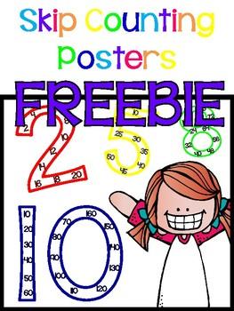 Skip Counting Posters FREEBIE