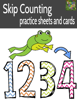 Skip Counting Practice (Worksheets and Number Cards for Po