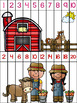 Skip Counting Puzzles - On the Farm