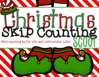 Skip Counting Scoot - Christmas Theme