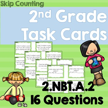 Skip Counting Task Cards- 2nd Grade