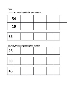 Skip Counting and Patterns