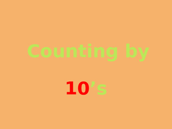 Skip Counting by 10's PowerPoint